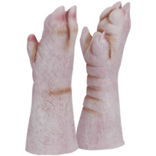 ADULT PIG'S HOOVES FEET LATEX SNOUT PIGGY HOG BOAR SWINE ANIMAL COSTUME GLOVES