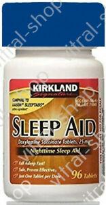 Kirkland Signature Sleep Aid Doxylamine Succinate 96 Tablets FAST DELIVERY
