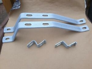 Triumph Stag Front Original Refurbished Pair Front Bumper Brackets Large & Small