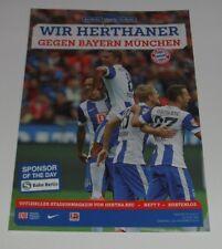 Programm Hertha BSC Berlin - FC Bayern München 29.11.2014 - 1.Liga 2014/2015