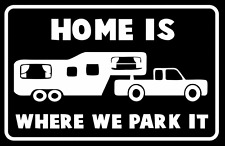 Home Is Where We Park It RV Motorhome Car Van Truck Laptop Vinyl Decal Sticker