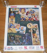 Green Bay Packers Don Hutson Clarke Hinkle Willie Davis Dowler poster c1994