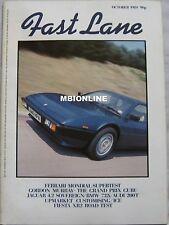 FAST LANE 10/1984 Ferrari Mondial, Porsche 956, Ford, Jaguar, BMW, Audi, GT40