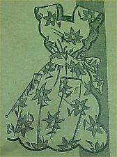 SALE Vintage Bib Full Size Apron Pattern Sexy Scallops Sewing Fabric Bust 36