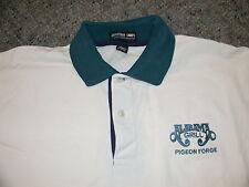 Vintage OG Alabama Grill Pigeon Forge TN Sewn Polo Shirt XL Nice Defunct Country