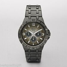 NEW-RELIC GARRETT GUNMETAL S/STEEL GREY MULTI-FUNCTION MENS WATCH+ZR15546