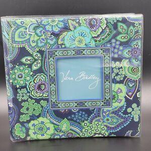 "Vera Bradley Deluxe Photo Album ""Blue Rhapsody"" Floral Paisley Holds 200 4x6"
