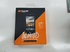NEW Boost Mobile LG K3 4G LTE Prepaid Cell Phone - Black
