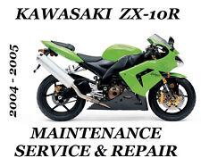 Kawasaki ZX-10R Ninja ZX 1000 Service Maintenance Repair Manual 2004 2005 ZX10R