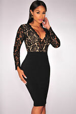 Lace Midi Little Black Dresses