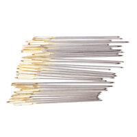 150Pcs 3 Sizes Sewing Tools Iron Metal Knitting Yarn Blunt Needles Gold Eye