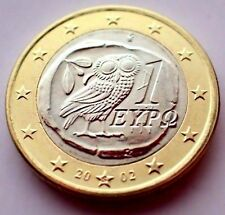 GREECE 2002 1 euro S (Finland) Mintmark Owl Bi Metal UNCIRCULATED