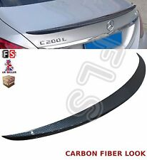 MERCEDES C CLASS W205 AMG REAR TRUNK BOOT LIP LID SPOILER 15+ CARBON FIBER LOOK