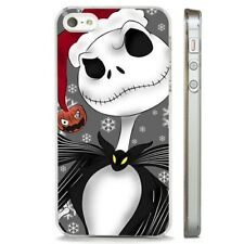 Nightmare Before Christmas Santa CLEAR PHONE CASE COVER fits iPHONE 5 6 7 8 X