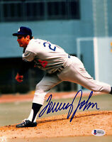 Dodgers Tommy John Authentic Signed 8x10 Photo Autographed BAS 2