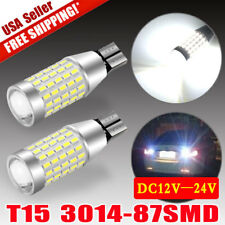2x High Power White T10/T15 921 87SMD LED Backup Reserve Turn Signal Light Bulbs