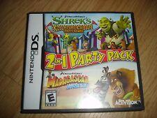 EUC Nintendo DS Shrek's Carnival Craze Madagascar Kartz game complete w/ manual