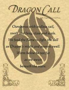 DRAGON CALL Parchment-Like Page for Book of Shadows!
