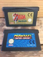 The Legend of Zelda + Mario Kart Genuine Carts - Game Boy Advance GBA