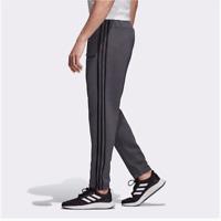 New Mens Adidas 3 Stripes Gray Cuffed Sweatpants S M L XL