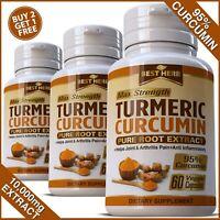 TURMERIC EXTRACT CAPSULES 95% CURCUMIN TUMERIC PAIN RELIEF IMMUNE SYSTEM DEFENCE