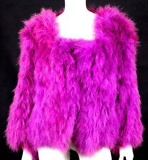 SONIA RYKIEL Vintage 1970's Fuchsia Maribou Feather Jacket O/S