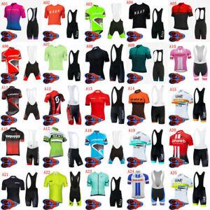 Men's Cycling Jerseys Bike Bib Shorts Set Quick Dry Ropa Ciclismo Clothing Kits