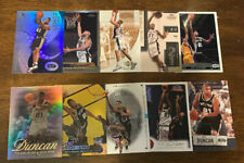 L1916 - TIM DUNCAN - LOT OF 10 BASKETBALL CARDS -SPURS