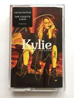 KYLIE GOLDEN SIGNED CASSETTE ALBUM RARE ED.1000 BRAND NEW AUTOGRAPHED LP
