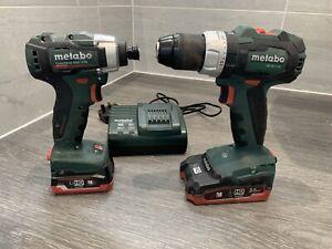Metabo Brushless Drill 18v and Impact 12v.Batteries 18v 3.5 Ah. / 12v 4.0 Ah.