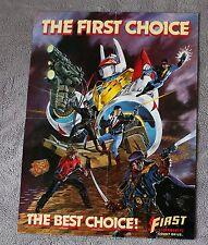 First Comics 1987 Nexus Grimjak Badger Jon Sable Dorman Flagg PROMO Poster VF