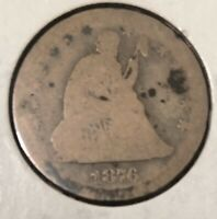 1876-S 25C Seated Liberty Quarter - About Good