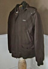 2X Brown COOGI  WOOL BLEND ZIP/SNAP FRONT COAT FULLY LINED HEAVY Mens XXL hood