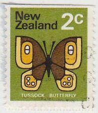 (NZK938) 1970 NZ 2c TUSSOCK butterfly (B)