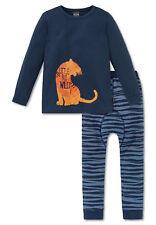 Schiesser Schlafanzug Pyjama Jungen blau Gr.104-140  NEU 161283