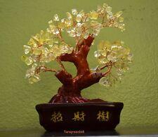 Feng Shui  BIG YELLOW ROCK CRYSTALS Lucky Money Tree