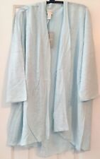 NWT NEW Chico's  MIXED FABRIC DRAPED FRONT ISLA BLUE Cardigan Sweater 1 (8 10)
