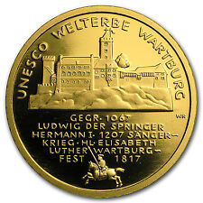 2011 Germany 1/2 oz Gold 100 Euro Wartburg BU - SKU #68023