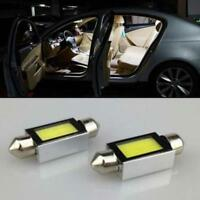 2 pcs White Xenon 36mm Car COB LED License Plate Light 6418 C5W 4W LED Bulbs 12V