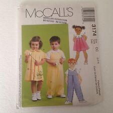 McCalls 3174 Toddler Summer Romper Dress Pattern Bee Flower 2 3 4 Uncut Shirt