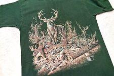 Vintage Single Stitch Deer Shirt Bucks Hidden Deer 1995 Large Milwaukee Bucks