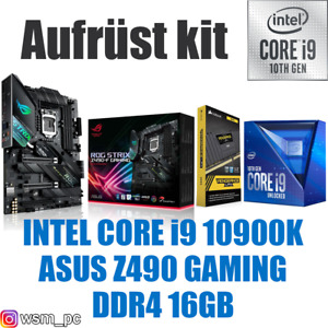 🅸🅽🆃🅴🅻 Core i9 10900K ● ASUS Z490 Mainboard ● 16GB RAM ● Intel Bundle Kit