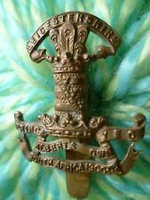 Leicestershire Yeomanry Cap Badge maker JR GAUNT Slider ANTIQUE Original