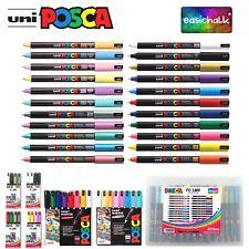 Posca Paint Marker PC-1MR 0.7mm Pen Ultra Fine Metal Glass Pin Nib *22 Colours*