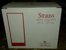 Luigi Bormioli Strauss- Bibita Long Drink 39 cl - 13 1/2 oz. - Set of 10 - NEW.