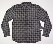 TLFI  RANGER Mens Long Sleeve Button Up Shirt Large Black Plaid NEW