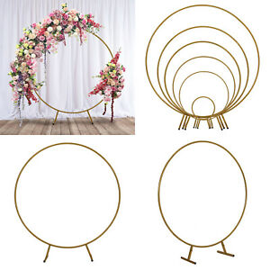 Wedding Arch Frame Moongate Free Standing Garden Circle Backdrop Display Stand