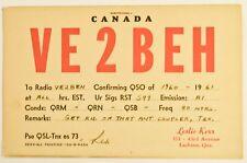 Vintage Lachine Quebec Canada Postcard QSL Card Amateur Radio 1961