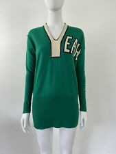 Vintage 1990s JC de Castelbajac Yeah Emerald Green Graphic Sweater Jumper Knit