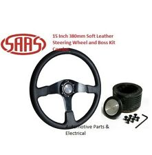 Holden Commodore VB VC VH Black SAAS Leather Steering Wheel 15 Inch 380mm